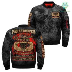 Paratrooper peace is not my profession it is your war is my profession over print jacket %tag familyloves.com
