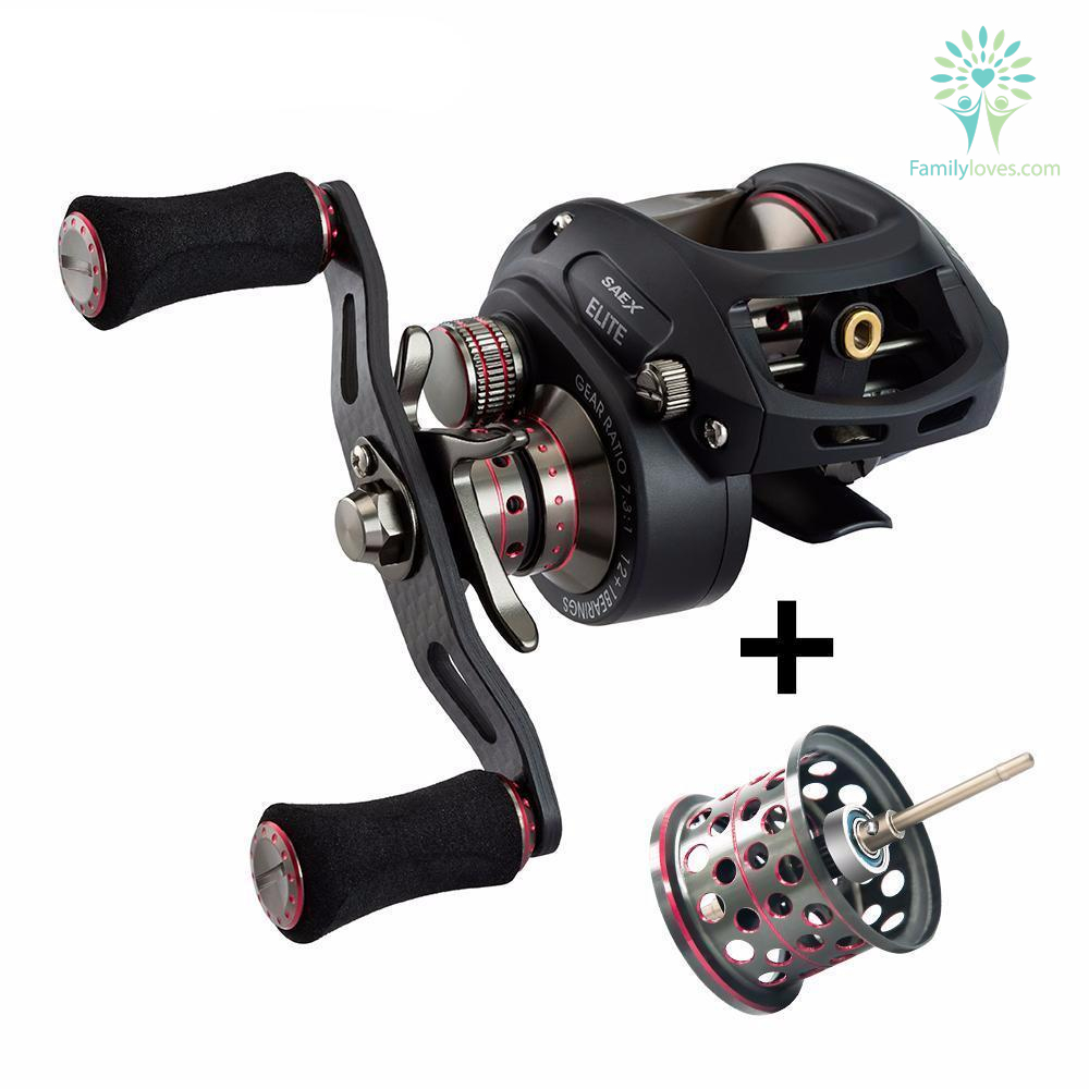 Piscifun SAEX ELITE Baitcasting Fishing Reel With Extra Spool Right Left Hand %tag familyloves.com