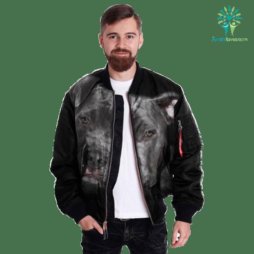 Pit Bull over print jacket %tag familyloves.com