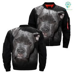 familyloves.com Pit Bull over print jacket %tag