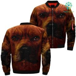 Pitbull Dog over print jacket %tag familyloves.com