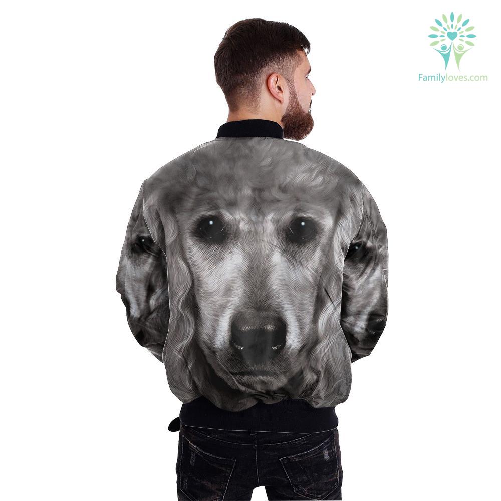 Poodle Dog over print jacket %tag familyloves.com