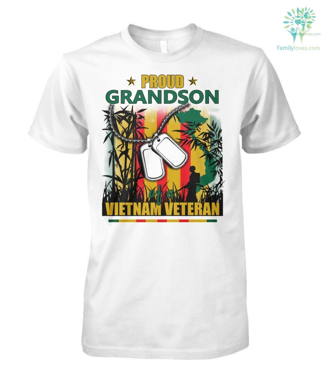 Proud Grandson of a Vietnam Veteran Men T-Shirt, Hoodie %tag familyloves.com