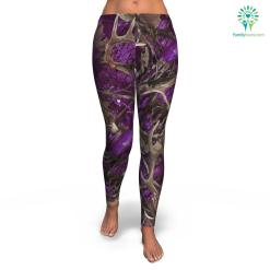 familyloves.com Purple Hunting all-over print leggings %tag