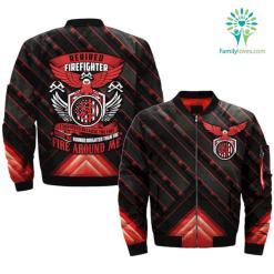 RETIRED FIREFIGHTER - I SURVIVED... OVER PRINT BOMBER JACKET %tag familyloves.com