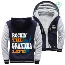 Rockin' the grandma life woman hoodie %tag familyloves.com