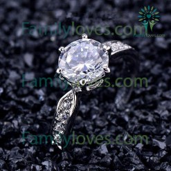 Romantic Proposal Ring Clear Zircon AAA+ Engagement Ring Party Silver Plated Bague Femme %tag familyloves.com