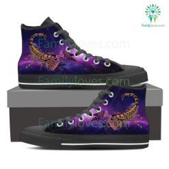Scorpio High Shoes Purple %tag familyloves.com