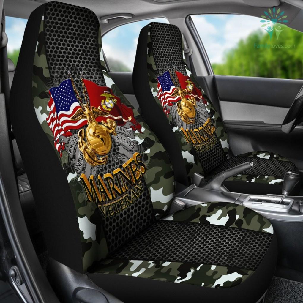 Semper fidelis united states marines veteran Car Seat Covers %tag familyloves.com