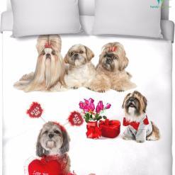 Shih tzu bedding sheet duvet cover handmade and made on-demand %tag familyloves.com