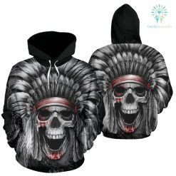 NATIVE AMERICAN INDIAN EAGLE WOLF SPIRIT ANIMALS ALL OVER HOODIE %tag familyloves.com