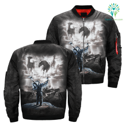 Summoning The Storm Tie-Dye over print jacket %tag familyloves.com