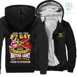 The 8th day god created the british army and the devil stood to attention - hoodies %tag familyloves.com