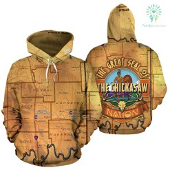 THE GREAT SEAL OF THE CHICKASAW NATION OVER PRINT HOODIE - Men's Hoodie - THE GREAT SEAL OF THE CHICKASAW NATION OVER PRINT HÔ, 2XL %tag familyloves.com