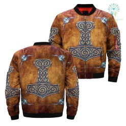 THOR'S HAMMER (mjolnir) ALL OVER PRINT JACKET payment shipping %tag familyloves.com