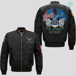 U.S AIR FORCE RETIRED ALL GAVE SOME SOME GAVE ALL - EMBROIDERED JACKET %tag familyloves.com