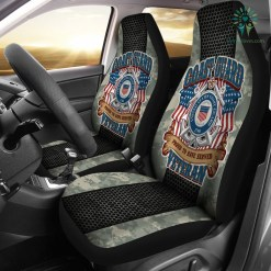 U.S COAST GUARD PROUD TO HAVE SERVED VETERAN CAR SEAT COVERS %tag familyloves.com