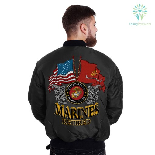U.S MARINE RETIRED EMBROIDERED JACKET %tag familyloves.com