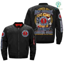 u.s.national guard, once an army national guard always an army national guard, always ready always there Over Print Jacket - Over Print, XXL %tag familyloves.com