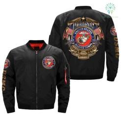 United States Marine Corps Veteran Over Print Jacket %tag familyloves.com