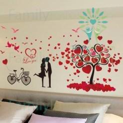 familyloves.com Valentine's day couples wall sticker %tag