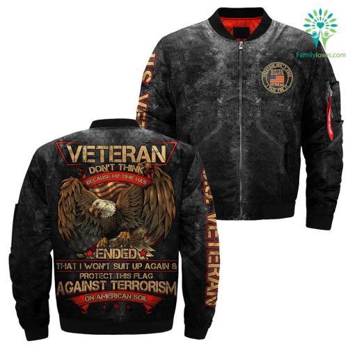 Veteran don't think because my time has U.S VETERAN OVER PRINT JACKET %tag familyloves.com