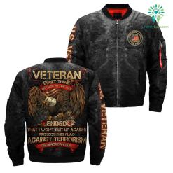 Veteran don't think because my time has U.S VETERAN OVER PRINT JACKET %tag familyloves.com