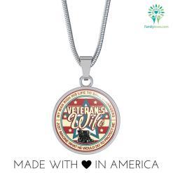 familyloves.com Veteran's wife Necklaces Bangle-Bracelet adjustable Luxury Necklace w/ adjustable snake-chain Necklace w/ adjustable curb-chain %tag
