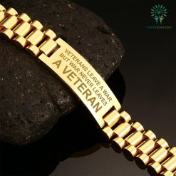 Veterans leave a war, but war never leaves a veteran men's bracelets Default Title %tag familyloves.com