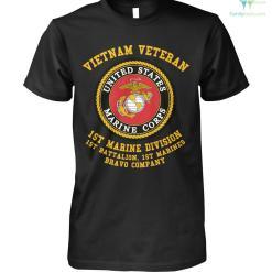 familyloves.com Vietnam veteran 1st marine division 1st battalion. 1st marines bravo company? t-shirt %tag