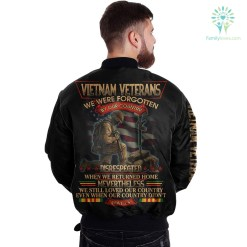 familyloves.com Vietnam Veterans We Were Forgotten By Our Country Disrespected When We Returned home... over print jacket %tag