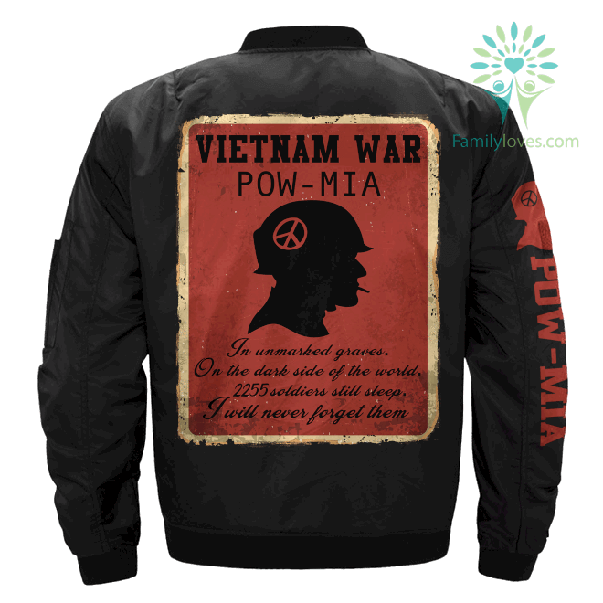 familyloves.com Vietnam war POW-MIA 2255 Soldiers still sleep, Vietnam Veterans of America OVER PRINT JACKET %tag