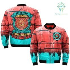 VOLUNTEER FIREFIGHTER - I WISH MY HEAD... OVER PRINT BOMBER JACKET %tag familyloves.com