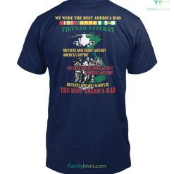 WE WERE THE BEST AMERICA HAD- Vietnam Veterans of America Mens V-Neck %tag familyloves.com