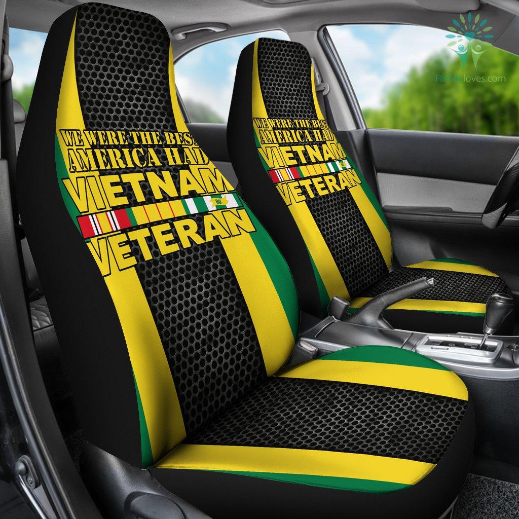 WE WERE THE BEST AMERICA HAD VIETNAM VETERAN CAR SEAT COVERS %tag familyloves.com