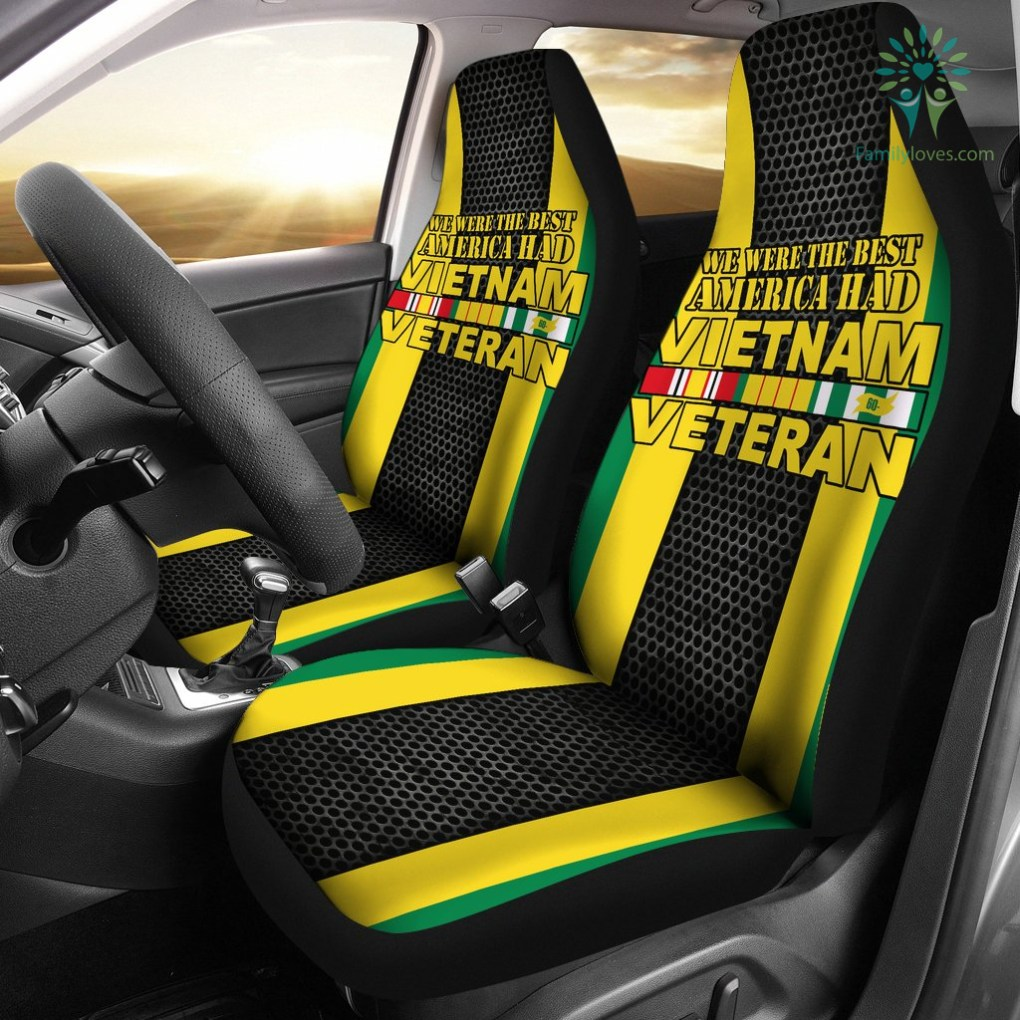 familyloves.com WE WERE THE BEST AMERICA HAD VIETNAM VETERAN CAR SEAT COVERS %tag