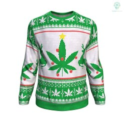 Weed christmas tree ugly christmas sweater %tag familyloves.com