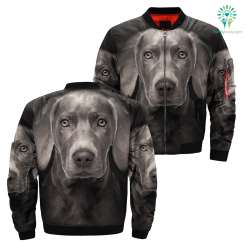 Weimaraner over print jacket %tag familyloves.com