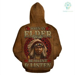 When an elder speaks be silent and listen over print hoodie %tag familyloves.com
