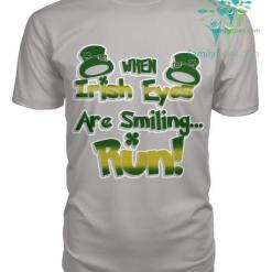 familyloves.com WHEN IRISH EYES ARE SMILING...RUN St. Patricks shirt, St. Patrick's Day shirt, St. Patricks day, St Pattys day shirt, Sizes S-5XL %tag