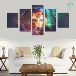 WOLF ART CANVAS 5 PIECES %tag familyloves.com