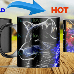 Wolf color heat color changing mugs magic mugs %tag familyloves.com