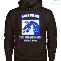 familyloves.com XVIII airborne corps since 1942 men, women hoodie, sweatshirt, t-shirt %tag