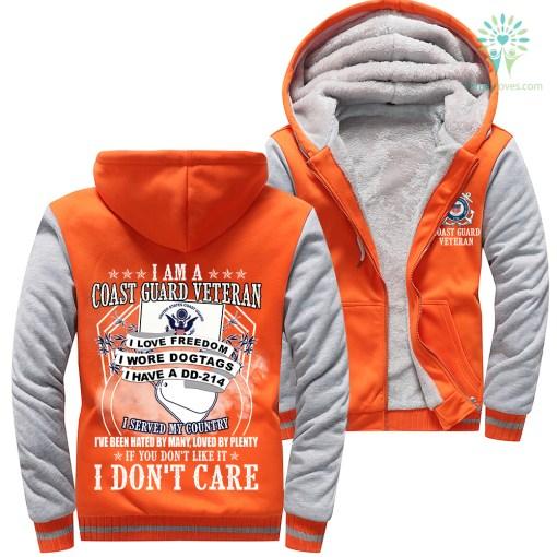 I Am A Coast Guard Veteran I Love Freedom I Wore Dogtags I Have A DD-214 Woman Hoodie 50% warm %tag familyloves.com