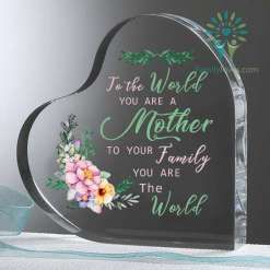 familyloves.com To the world you are a mother 2... Heart Keepsake %tag