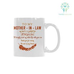 To my mother in law mug Classical White Mug (11 OZ) (Made In USA) %tag familyloves.com
