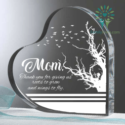 Mom, Thank you for giving us roots to grow and wings to fly Heart Keepsake %tag familyloves.com