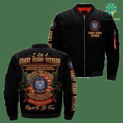 familyloves.com I Am A Coast Guard veteran... Over Print Jacket %tag