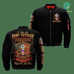 familyloves.com I Am An Army veteran... Over Print Jacket %tag