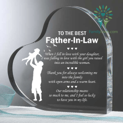 familyloves.com To best father in law Heart Keepsake %tag
